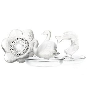 Three Lalique crystal articles