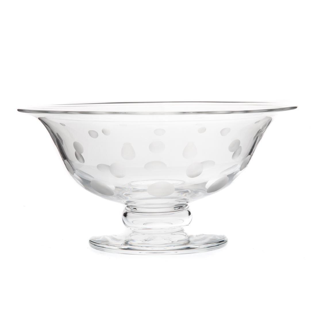 Steuben acid-etched glass compote