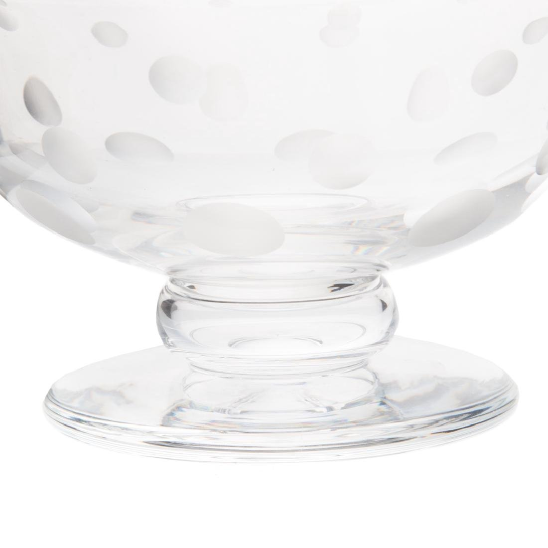 Steuben acid-etched glass compote - 2