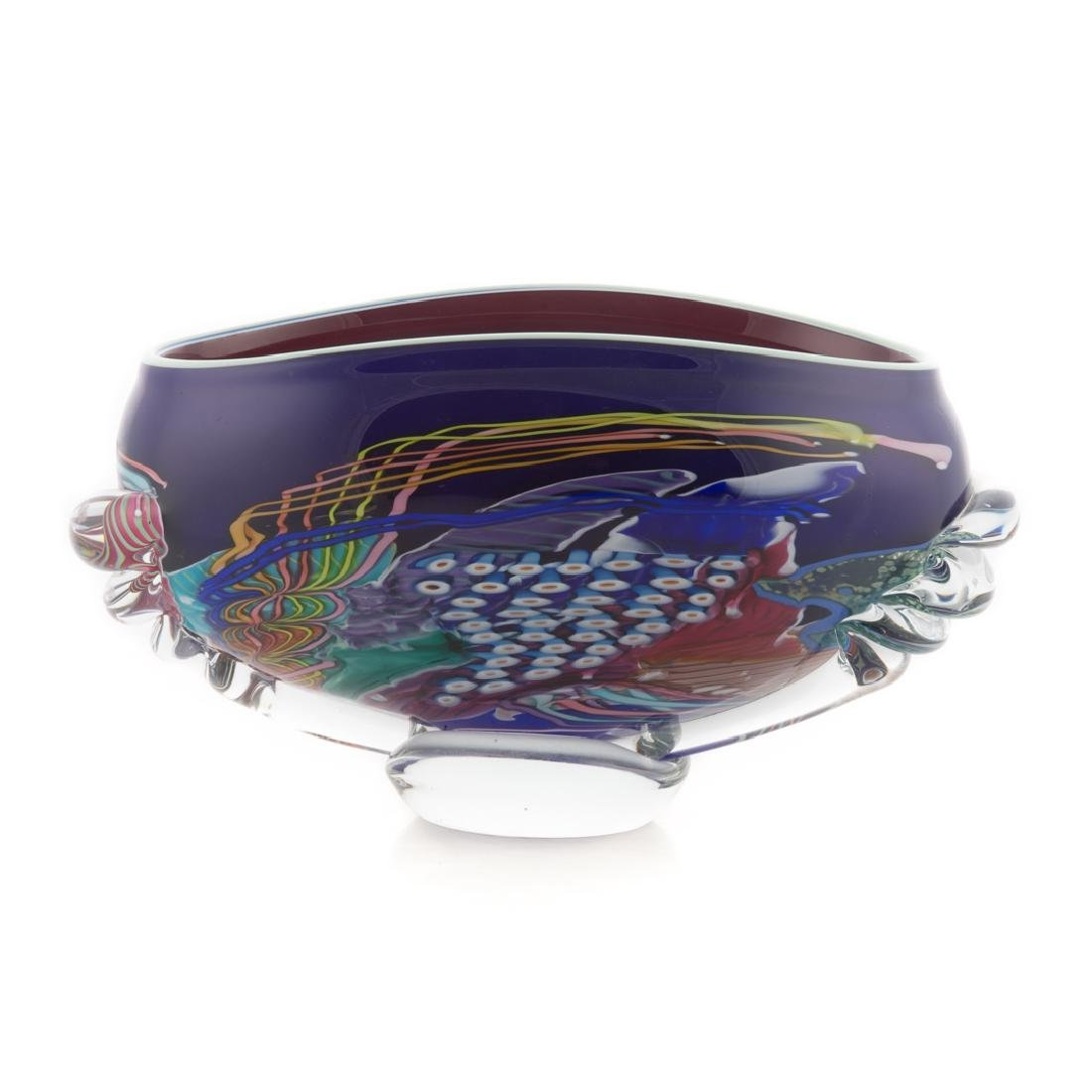 American art glass centerbowl