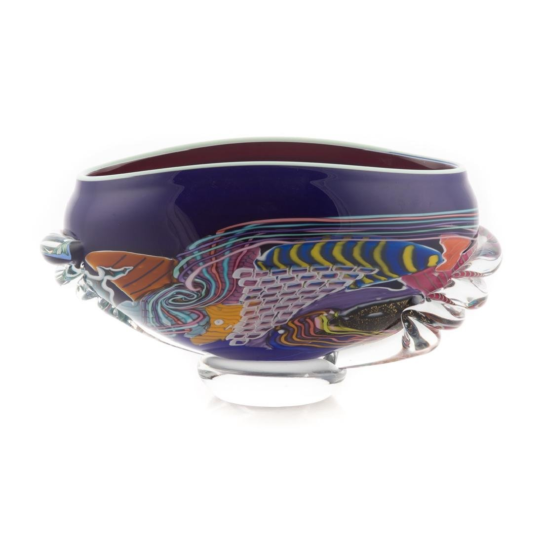 American art glass centerbowl - 2