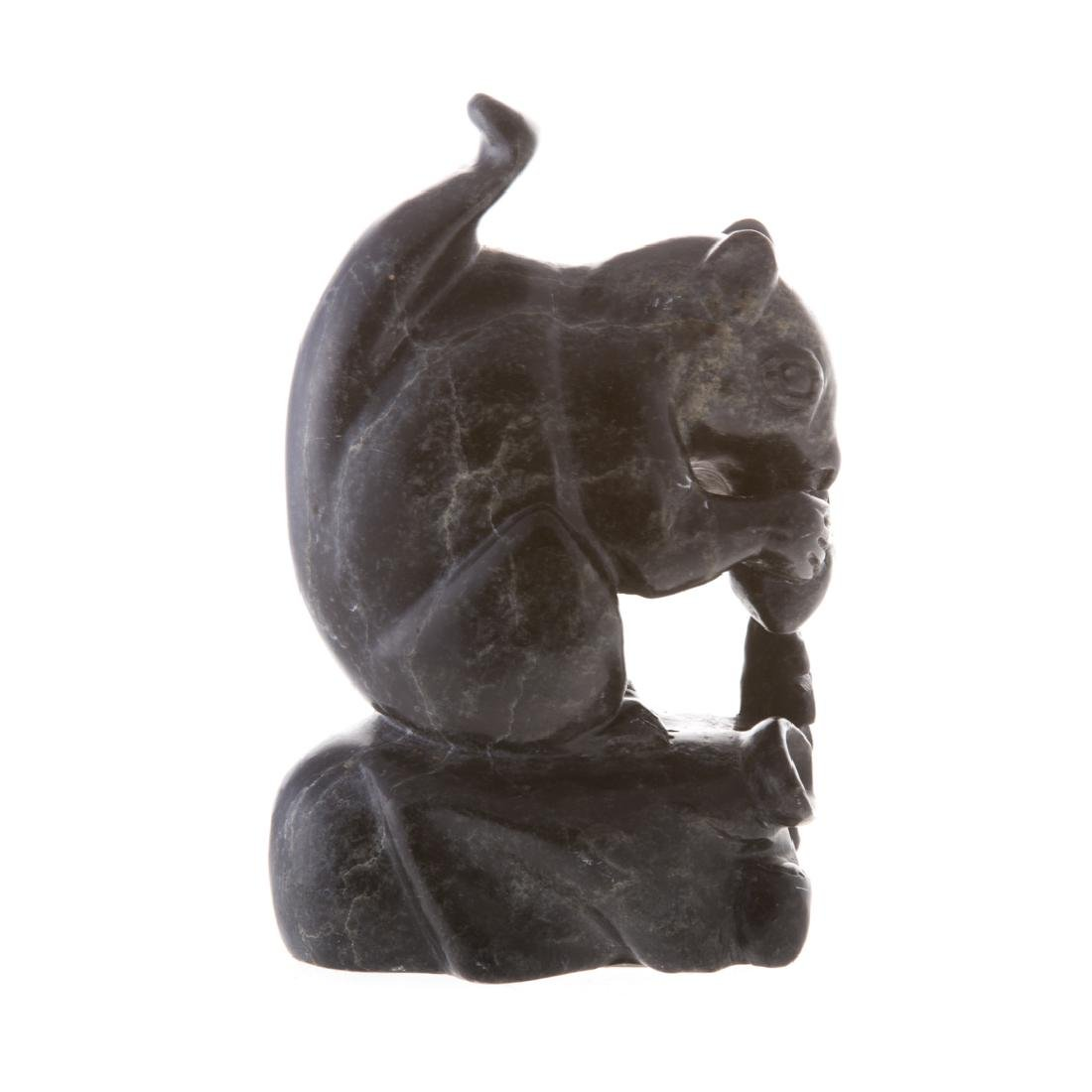 Jack Simpson. Carved soapstone squirrel