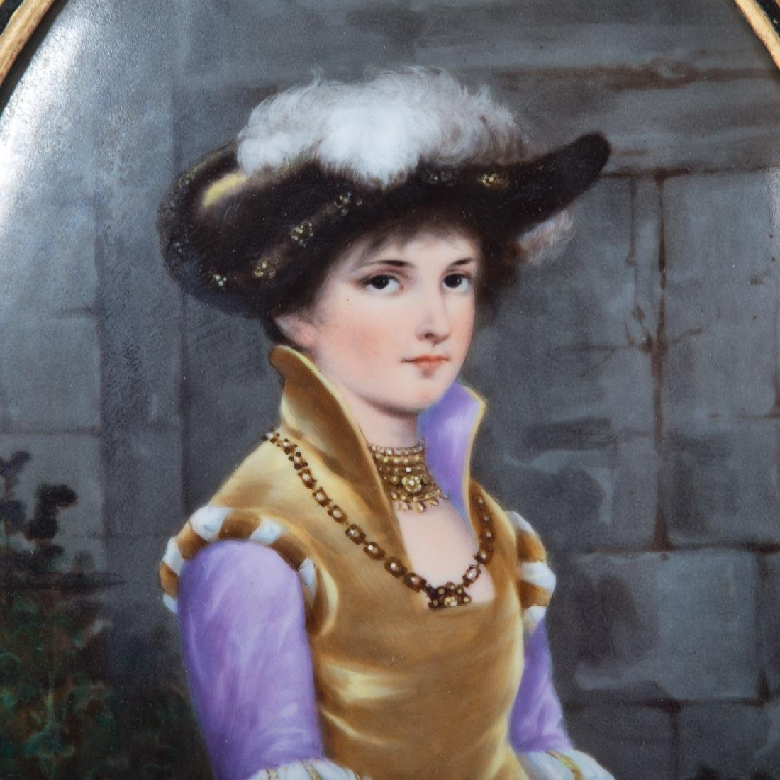 German painted porcelain plaque by Thallmaier - 2