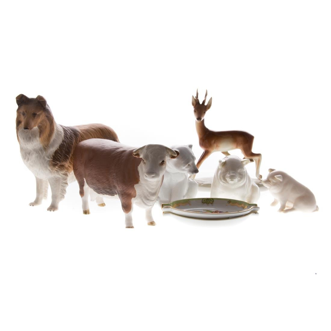 Six English and continental ceramic animals