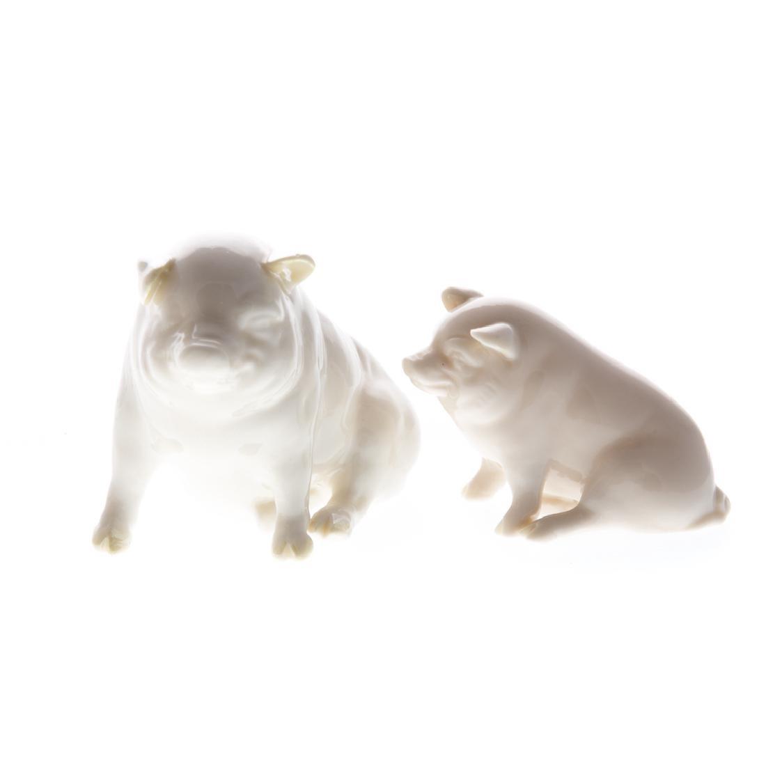 Six English and continental ceramic animals - 2