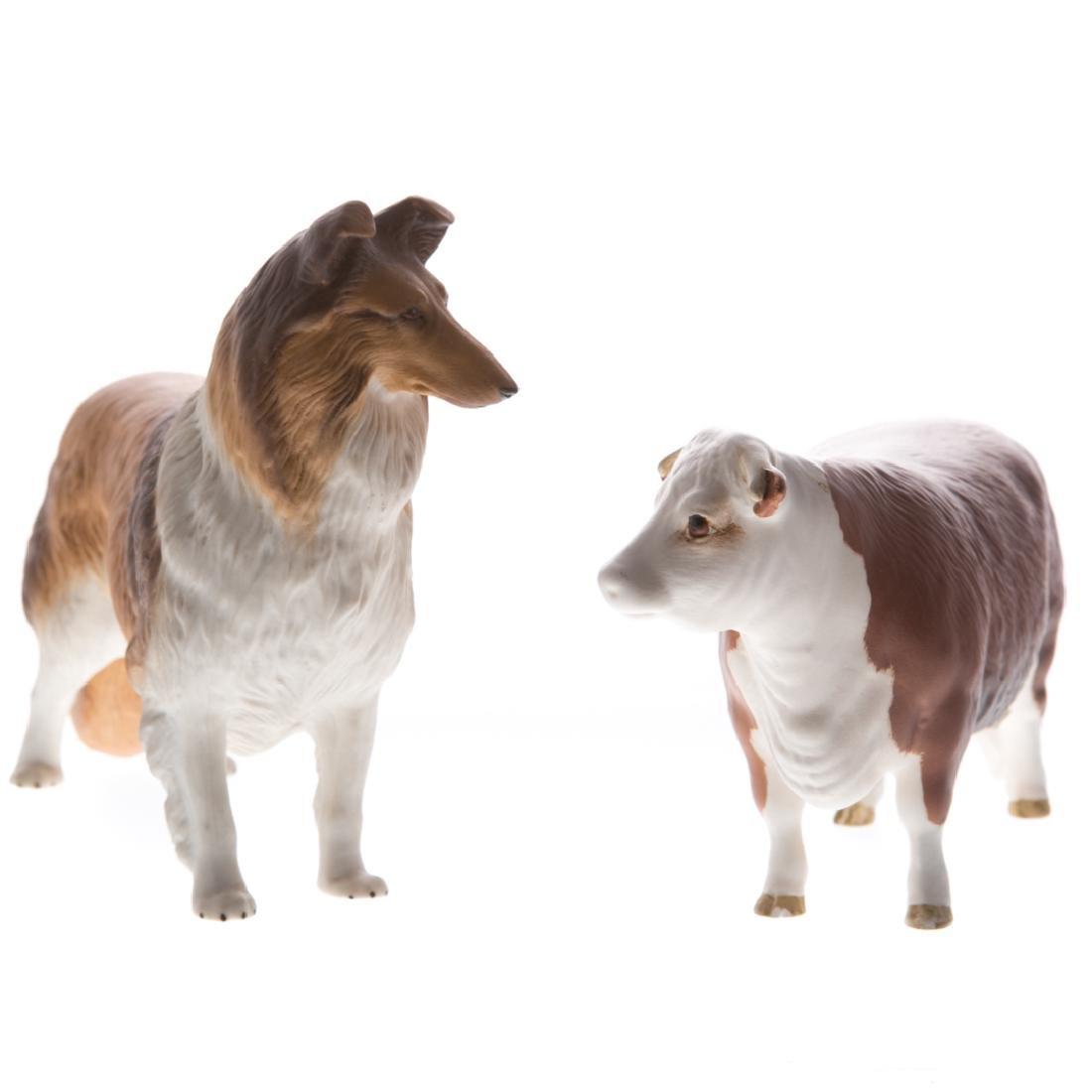 Six English and continental ceramic animals - 3