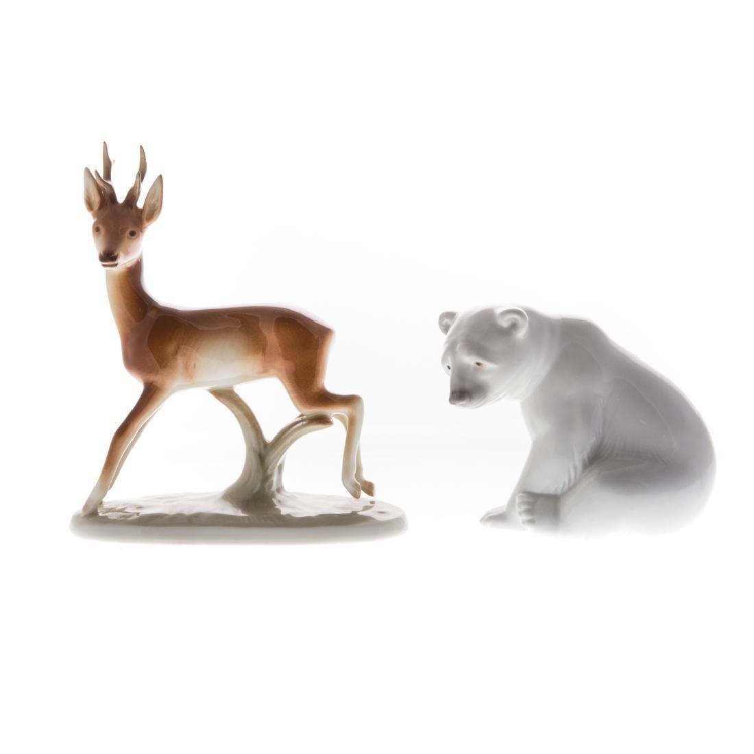 Six English and continental ceramic animals - 5