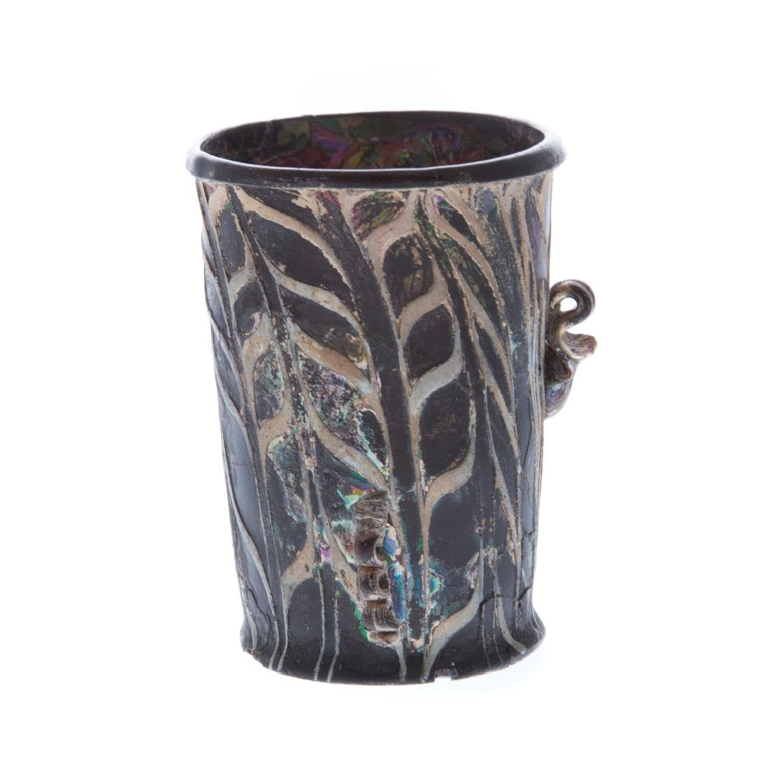 Ancient Roman glass drinking cup - 3