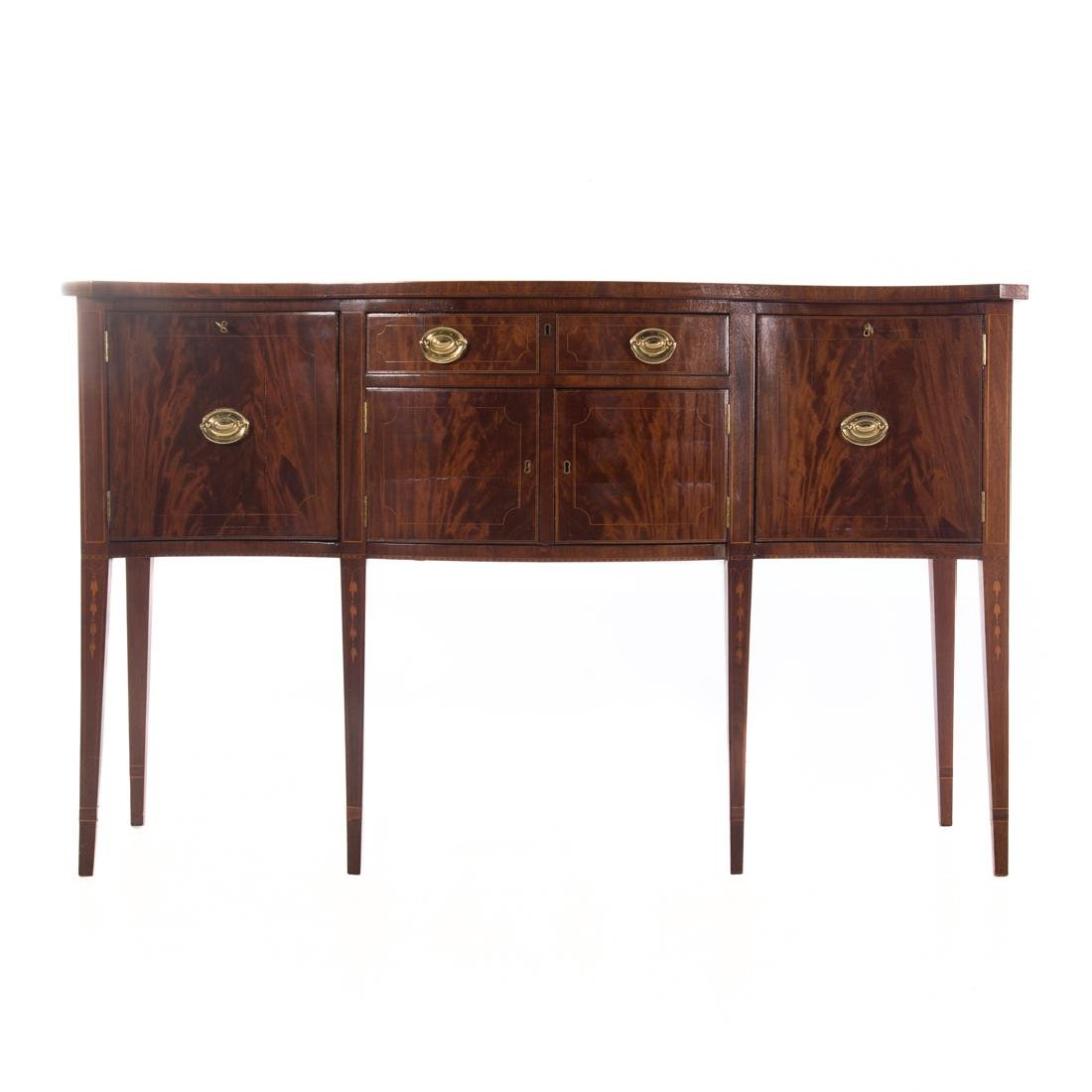 Centennial Federal style inlaid mahogany sideboard