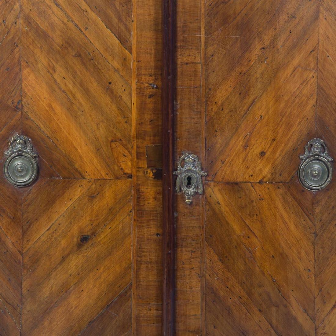 Continental parquetry walnut cabinet - 2