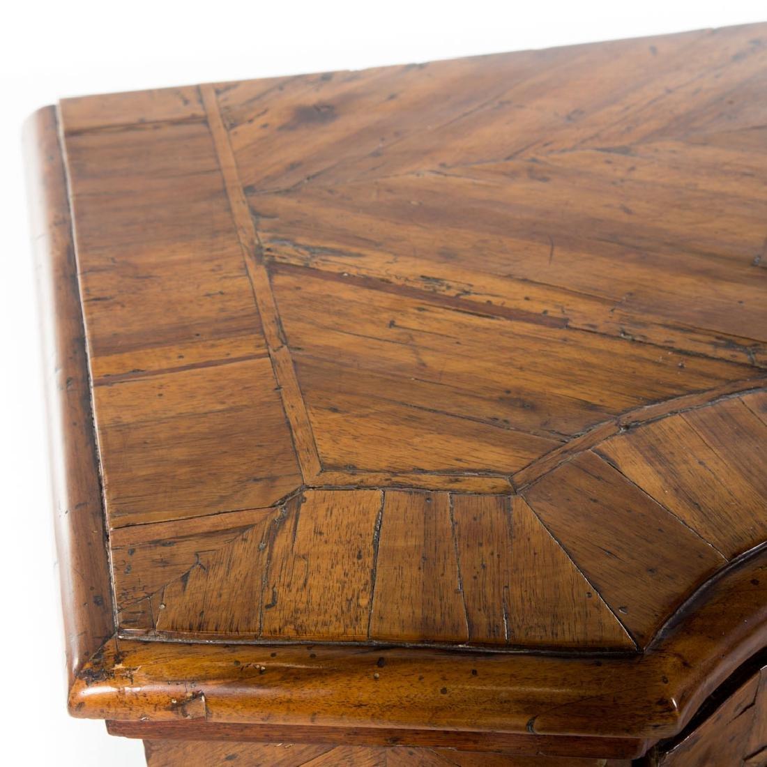 Continental parquetry walnut cabinet - 3