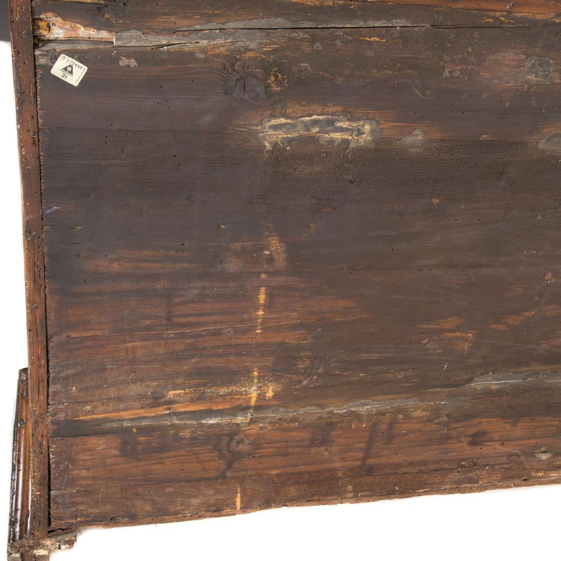Continental parquetry walnut cabinet - 4