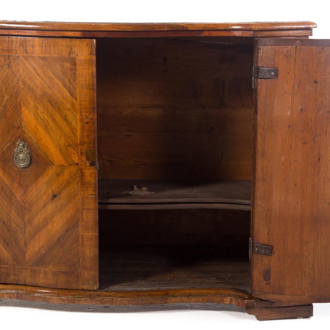 Continental parquetry walnut cabinet - 5
