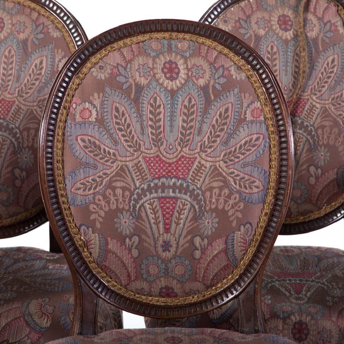 Eight George III style mahogany dining chairs - 2