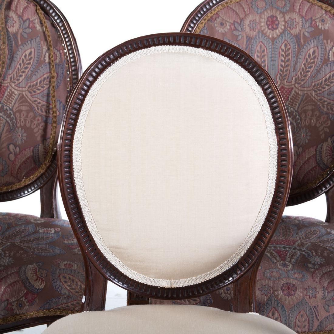 Eight George III style mahogany dining chairs - 3