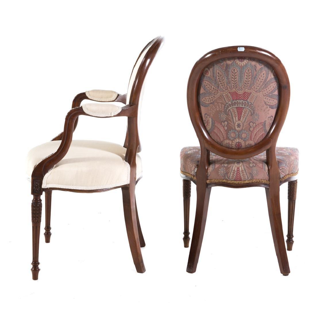 Eight George III style mahogany dining chairs - 5
