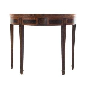 George III style demilune games table