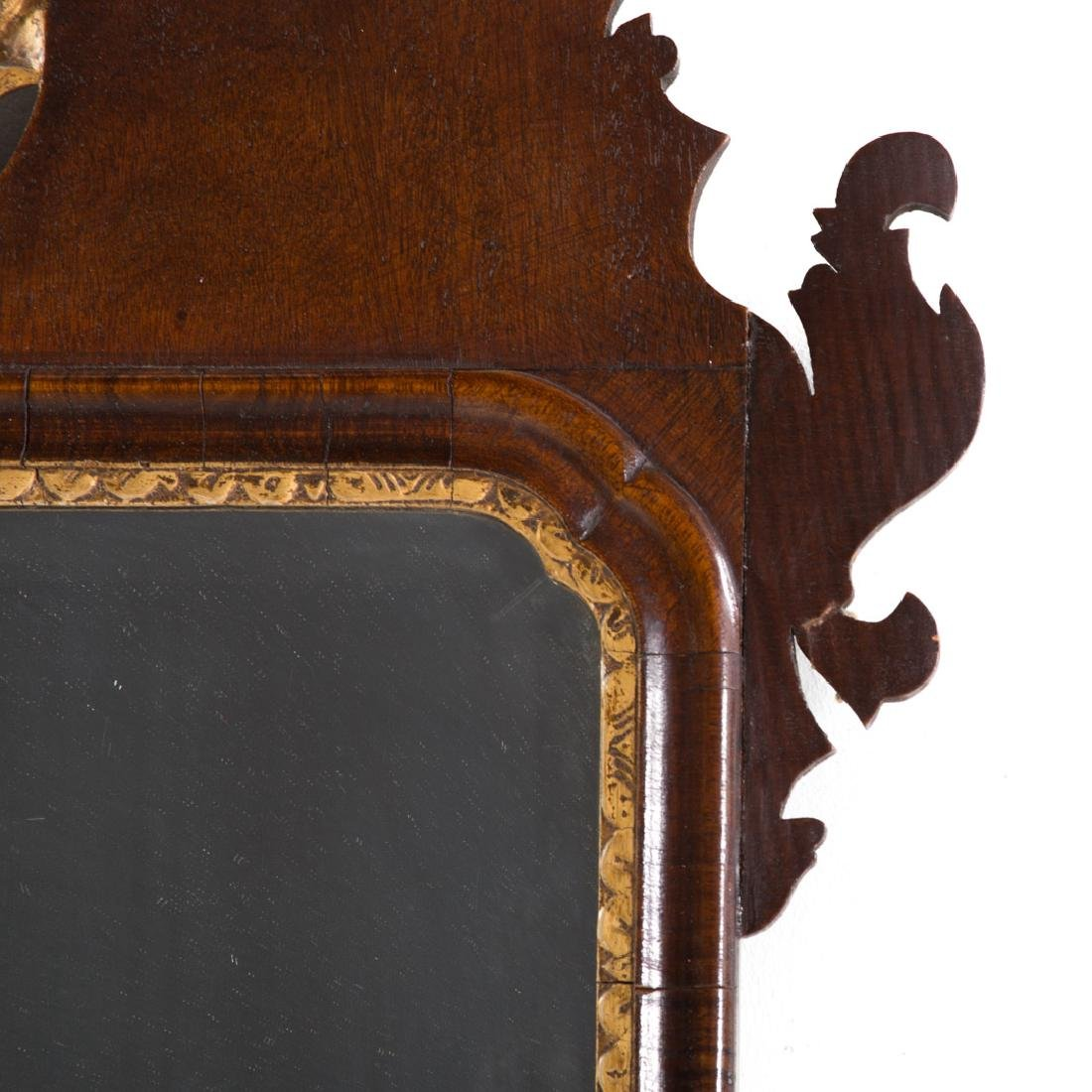 Chippendale mahogany & parcel gilt mirror - 3