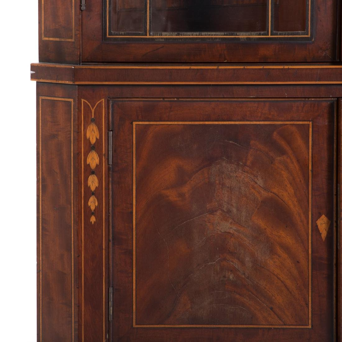 Federal style inlaid mahogany corner cabinet - 2