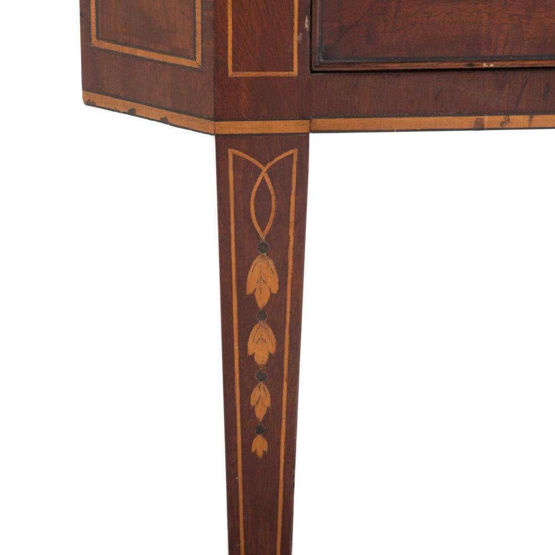 Federal style inlaid mahogany corner cabinet - 3