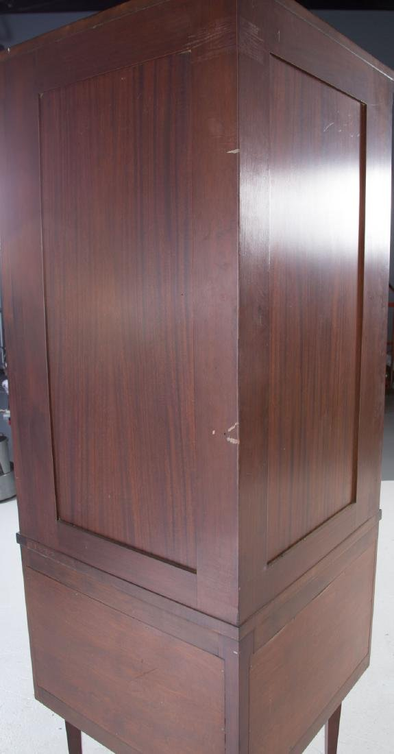 Federal style inlaid mahogany corner cabinet - 5