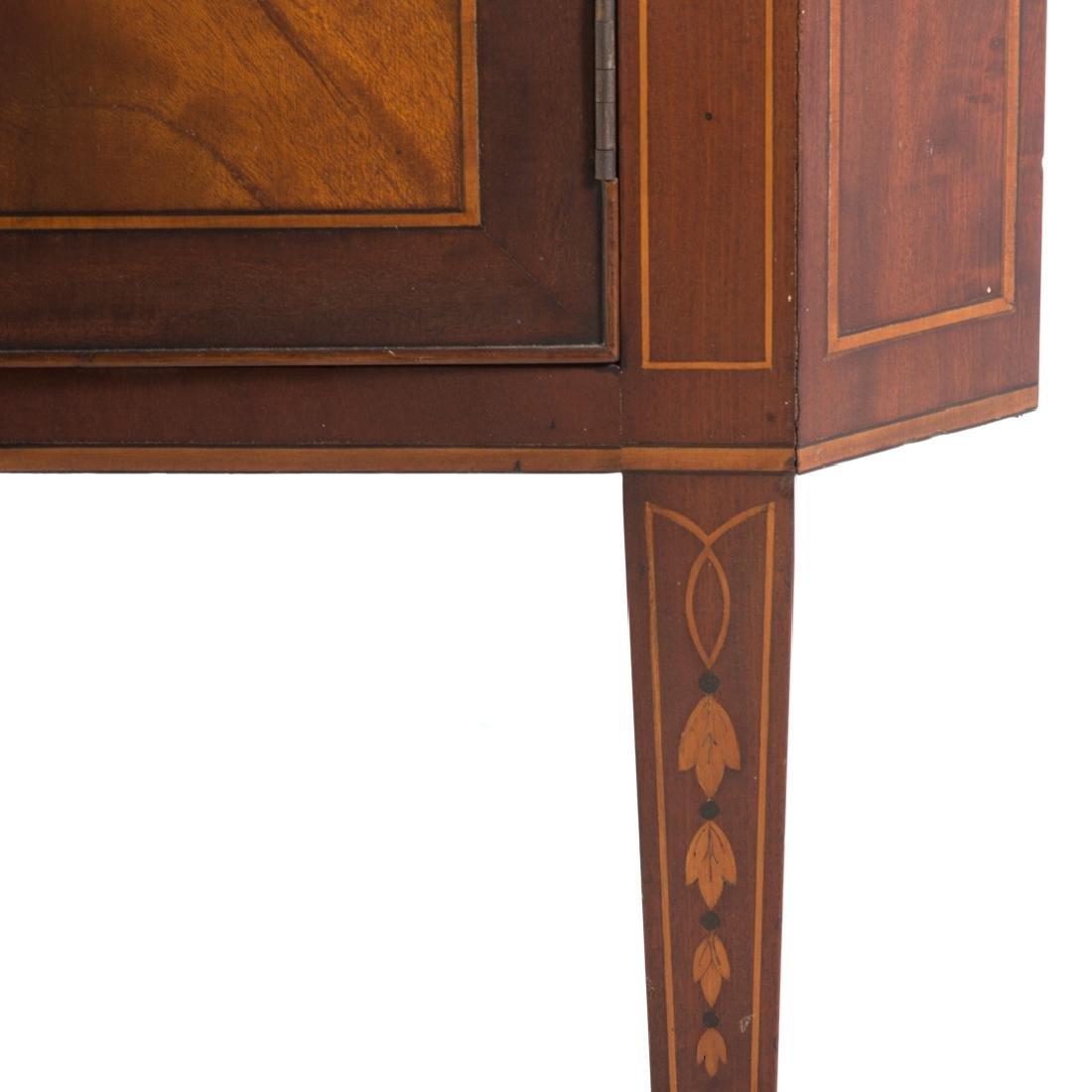 Federal style inlaid mahogany corner cabinet - 3