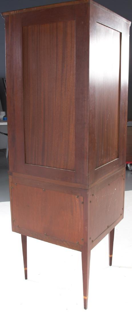 Federal style inlaid mahogany corner cabinet - 4