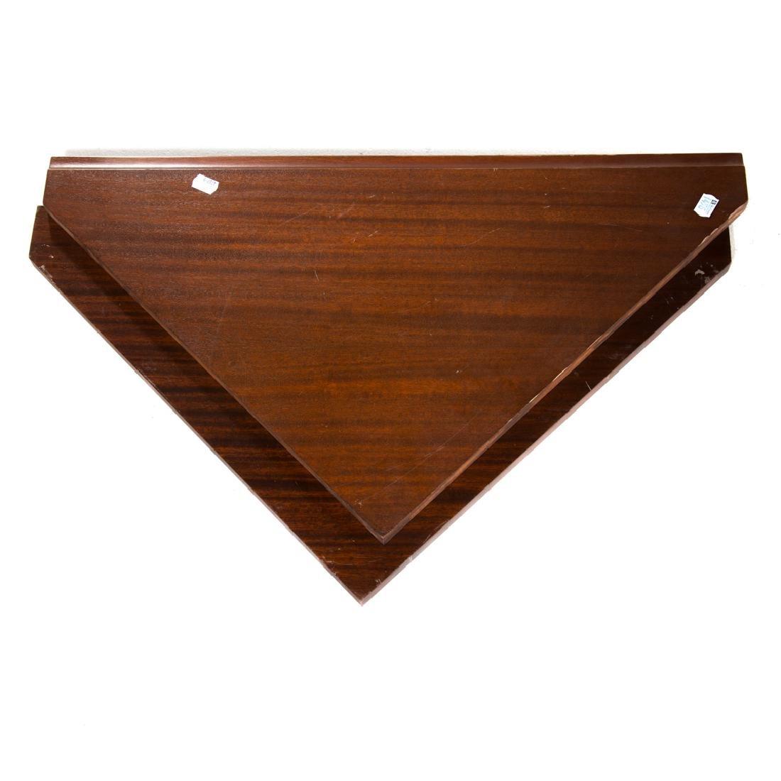 Federal style inlaid mahogany corner cabinet - 5