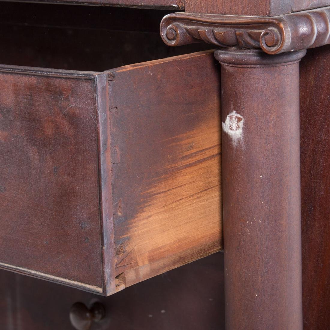 Classical Revival mahogany chest of drawers - 4