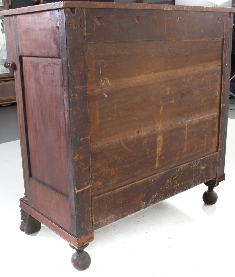 Classical Revival mahogany chest of drawers - 5