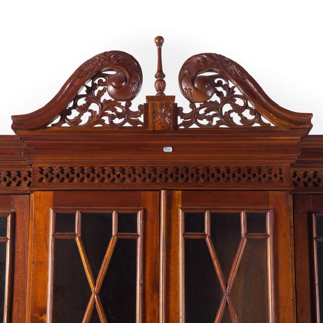 Chippendale style mahogany breakfront - 2