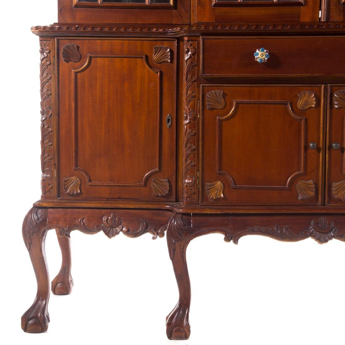 Chippendale style mahogany breakfront - 3