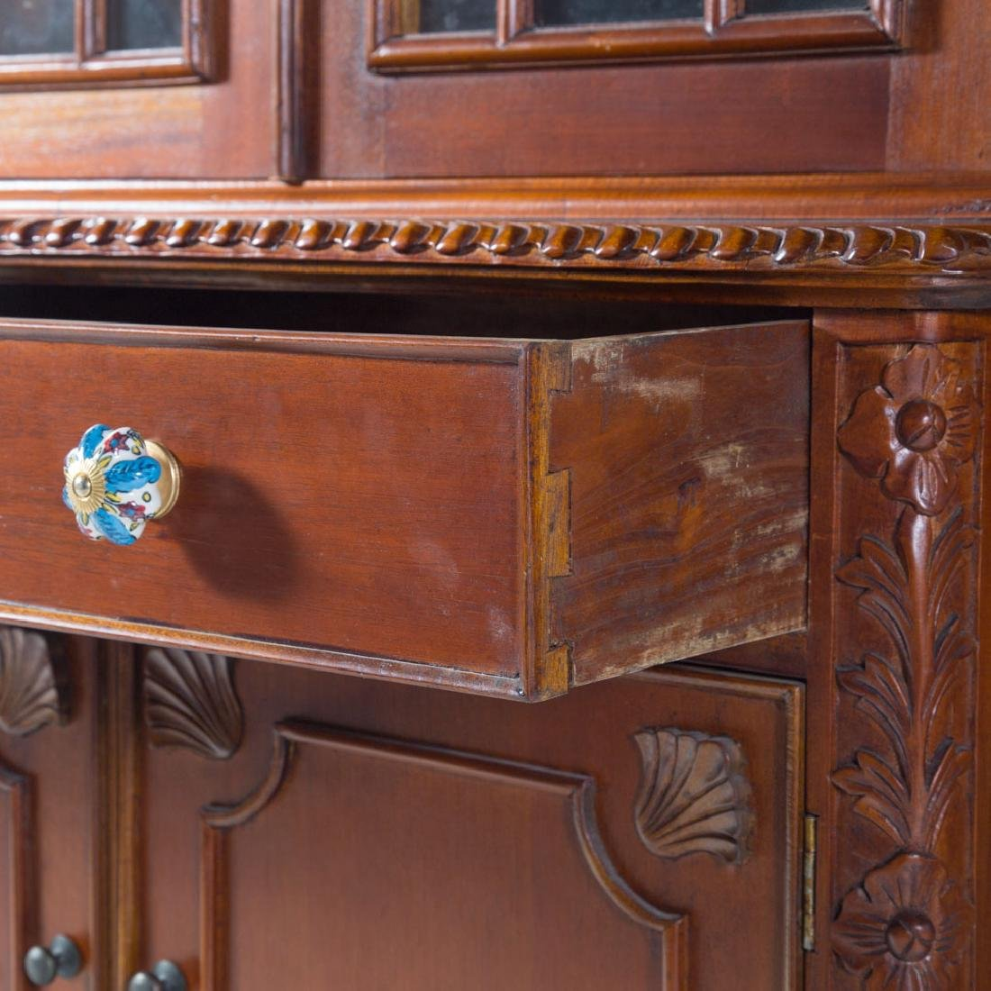 Chippendale style mahogany breakfront - 4