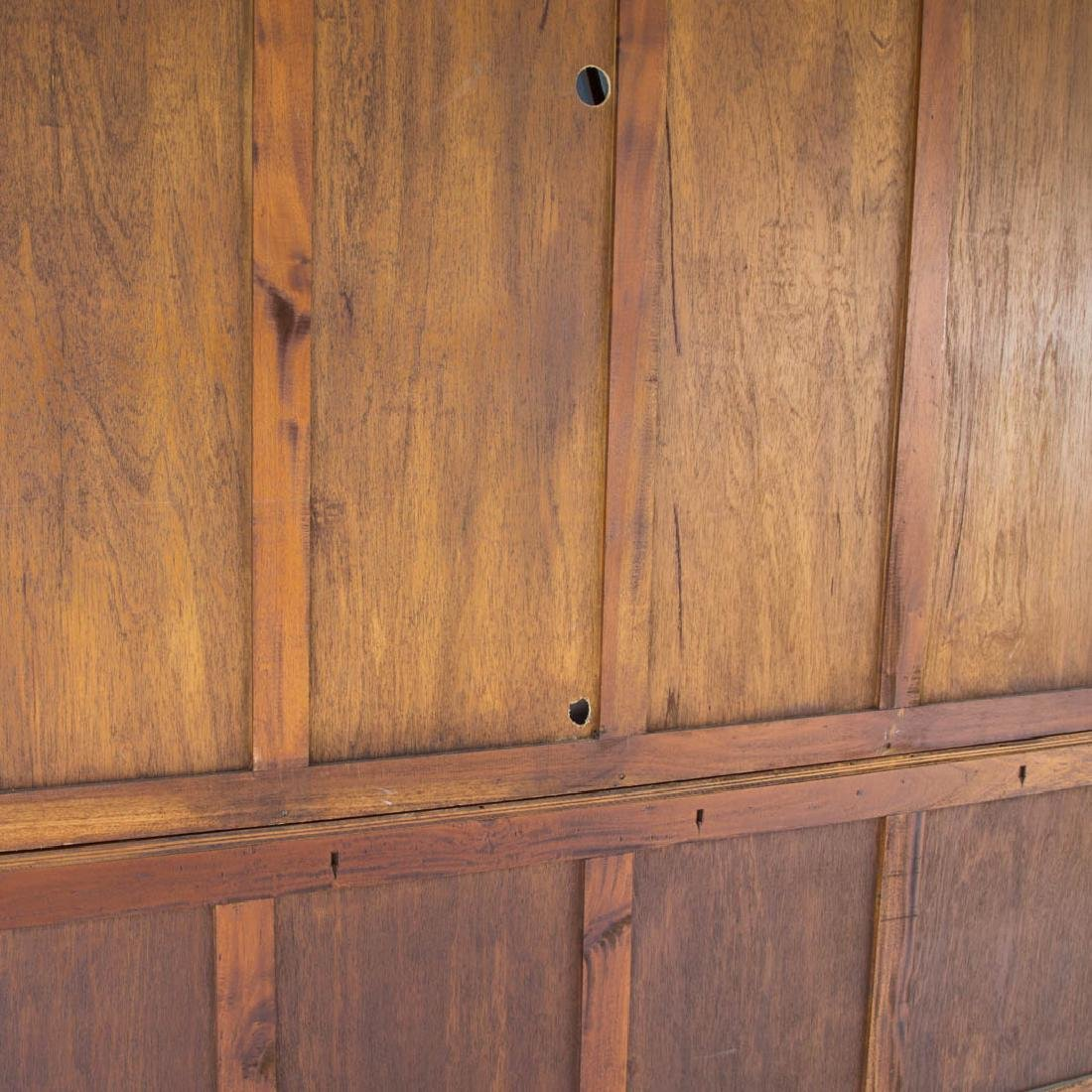 Chippendale style mahogany breakfront - 6