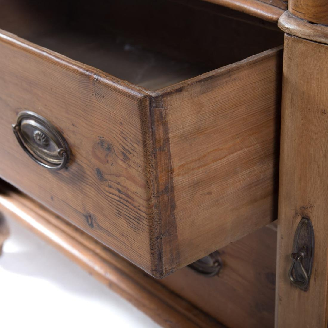 Victorian scrubbed pine buffet - 3