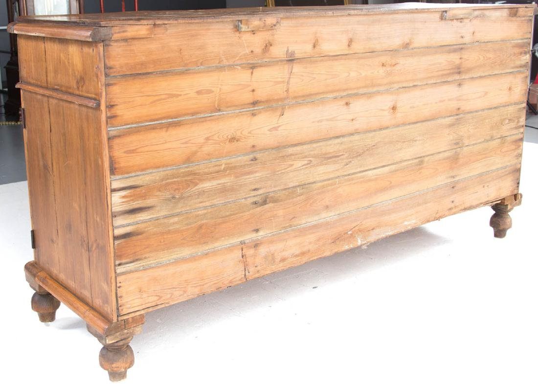 Victorian scrubbed pine buffet - 5