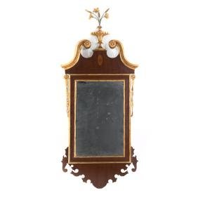 New York Federal style mahogany mirror