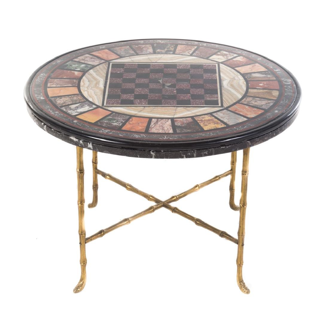 Italian specimen marble top side table
