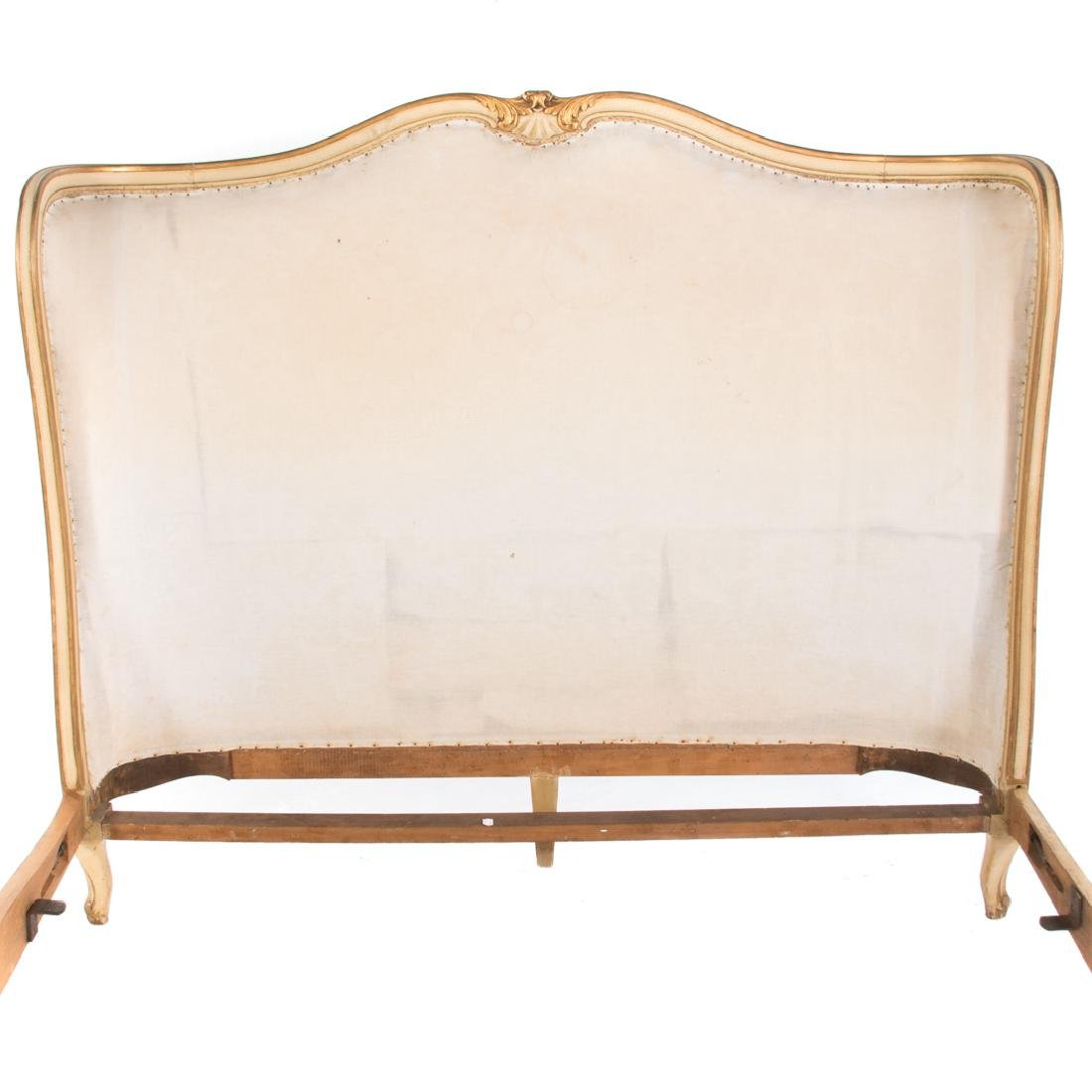 Louis XV style painted & parcel gilt bedstead - 2