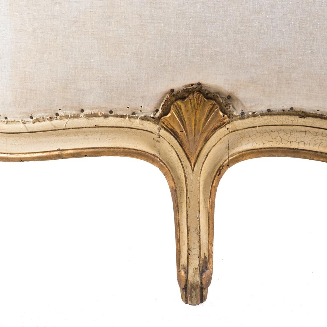 Louis XV style painted & parcel gilt bedstead - 4