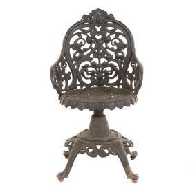 Victorian cast iron garden child's chair