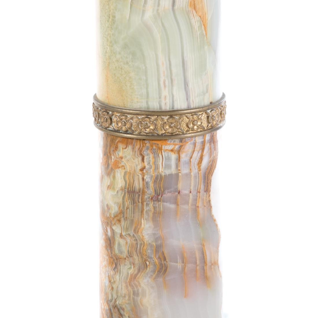 Classical style green onyx pedestal - 3