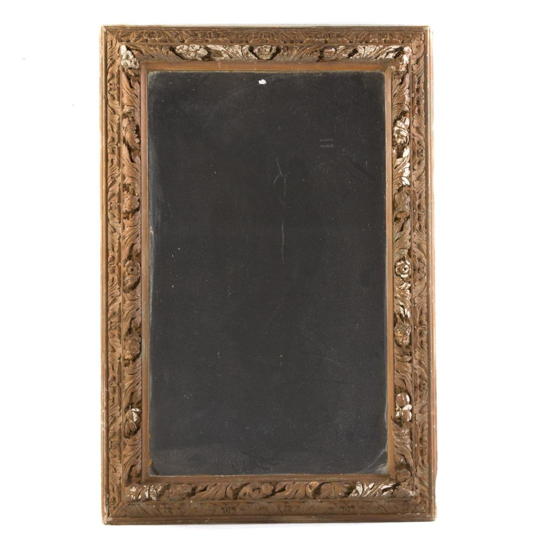 Continental carved wood mirror