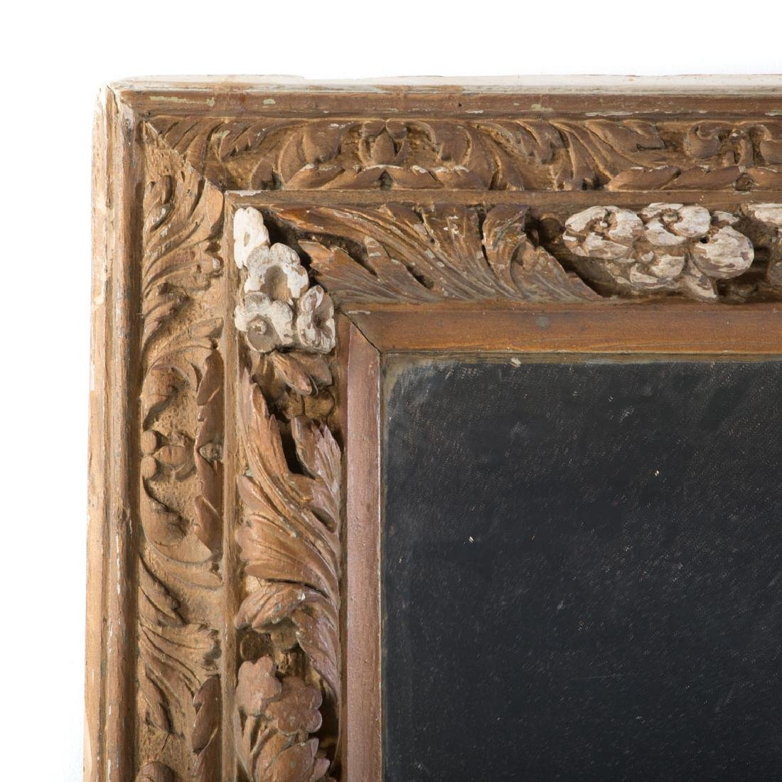 Continental carved wood mirror - 3