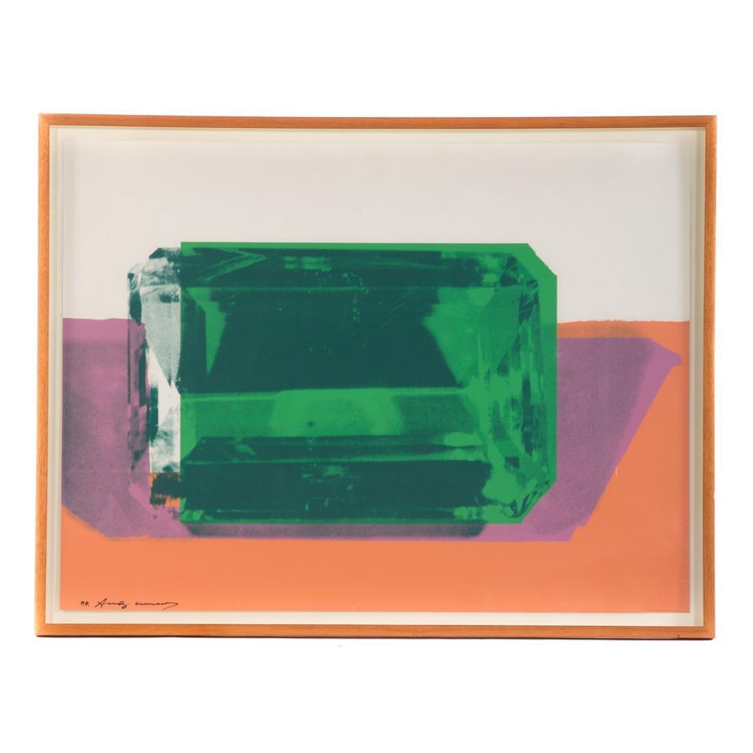 "Andy Warhol. ""Emerald Gem,"" color silkscreen"