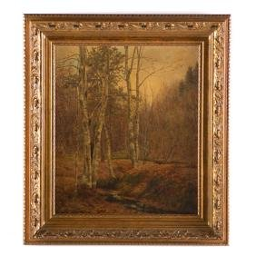Edmund Elisha Case. Autumnal Forestscape, oil