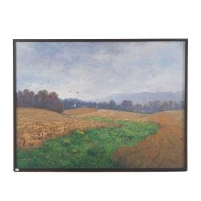 John Brandon Sills. Maryland Fieldscape, oil