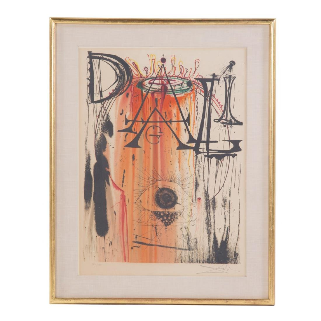"Salvador Dali. ""L'art dans les bijoux"", lithograph"