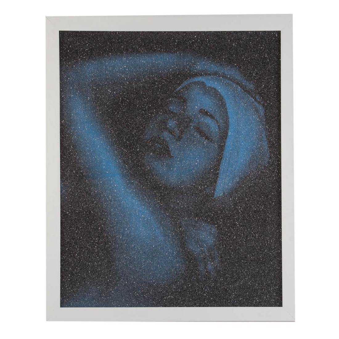 "Carole Feuerman. ""Monumental Shower (Blue)"""