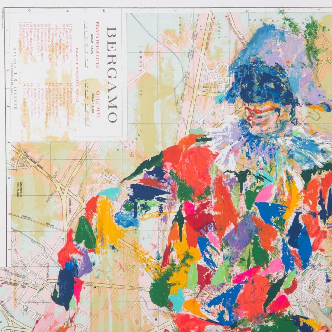 "LeRoy Neiman. ""Harlequin Bergamo"", Serigraph - 2"